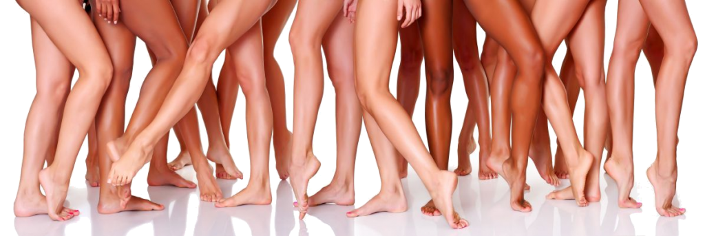 Legs of women after hair removal